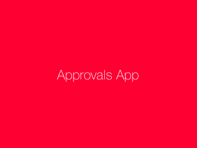 Approvals App