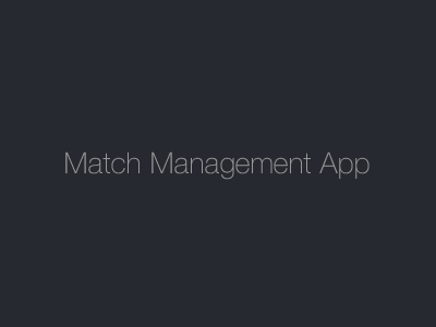 Match Management App